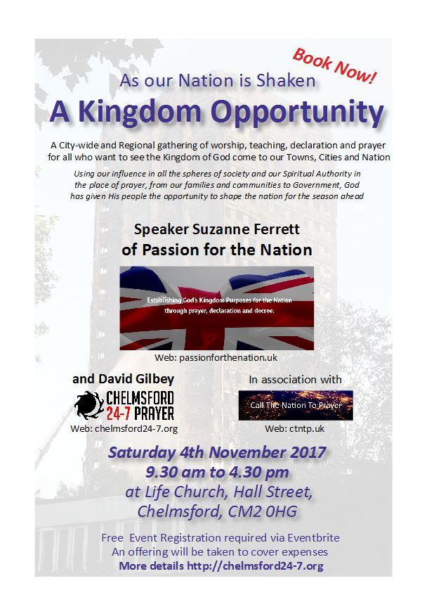 A Kingdom Opportunity - publicity flyer snip