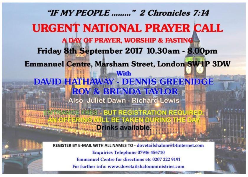 National Day of Prayer flyer 8 Sept 2017