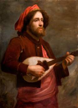 Watts, George Frederic, 1817-1904; The Wandering Minstrel