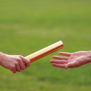 passing baton