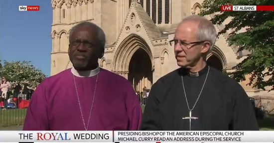 Sky interview bishops after royal wedding