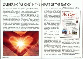 Snip of Prayer Magazine article re As One