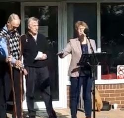 Snip from video - Suzanne speaking at Merden