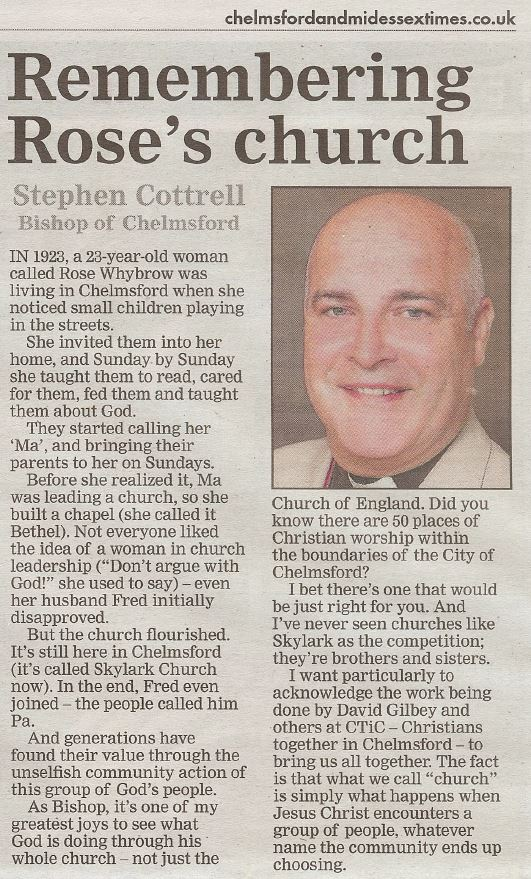 Stephen Cottrell's newspaper article 011118