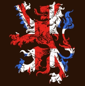 lion of england in flag