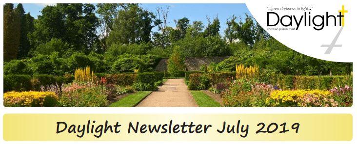 Daylight July 2019 newsletter header