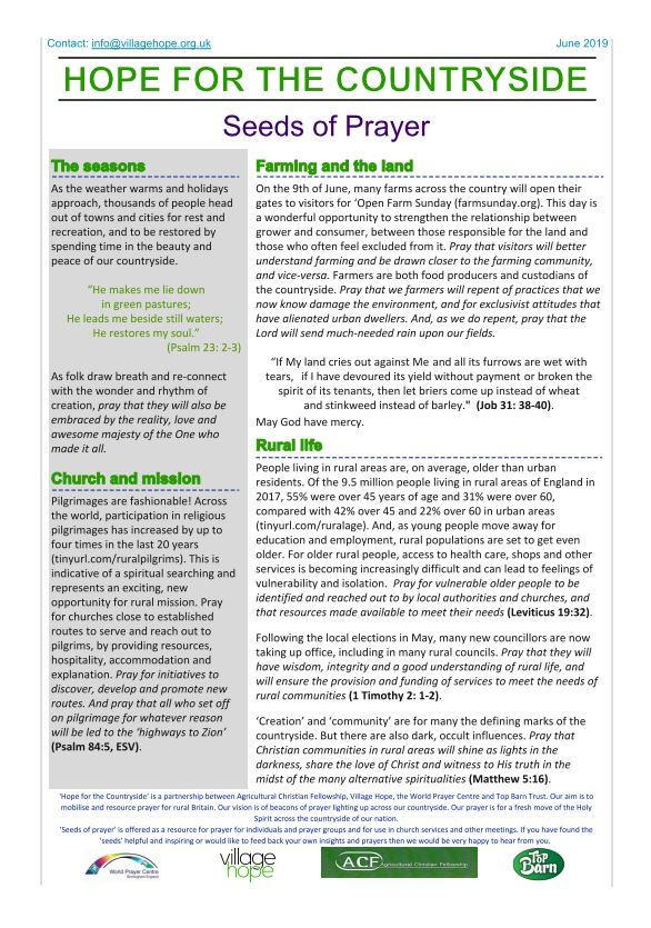 Hope for the Countryside - June 2019