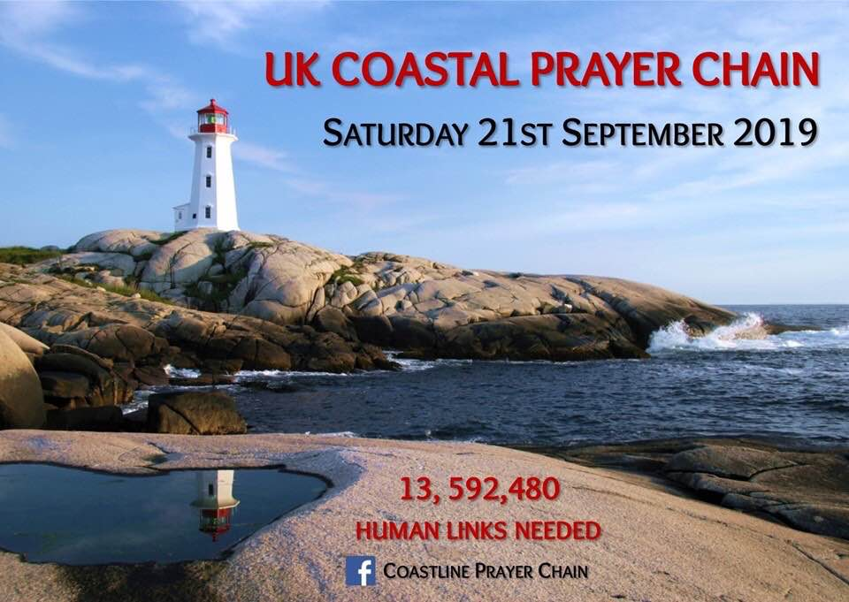 UK Costline Prayer Chain - front