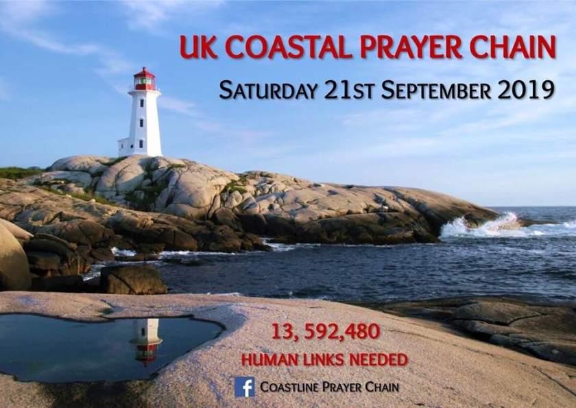 UK Costline Prayer Chain - front