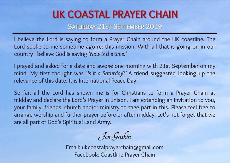 UK Costline Prayer Chain - rear