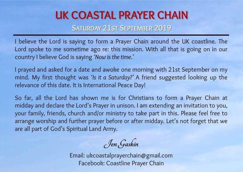 UK Costline Prayer Chain - rear