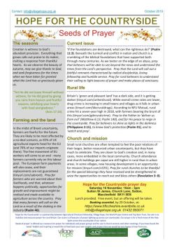 Hope for the Countryside October Newsletter snip