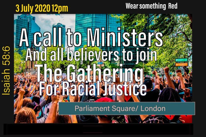 Call for prayer for Racial Justice July 2020